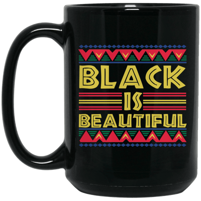 BigProStore Black Is Beautiful African American Coffee Mug For Pro Afro Women Men BM15OZ 15 oz. Black Mug / Black / One Size Coffee Mug