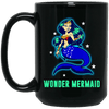 BigProStore Wonder Mermaid Coffee Mug Gift Idea For Women Girls BM15OZ 15 oz. Black Mug / Black / One Size Coffee Mug