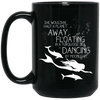 BigProStore Mermaid Mug She Would Be Half A Planet Away Floating Dancing BM15OZ 15 oz. Black Mug / Black / One Size Coffee Mug