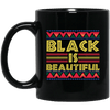 BigProStore Black Is Beautiful African American Coffee Mug For Pro Afro Women Men BM11OZ 11 oz. Black Mug / Black / One Size Coffee Mug