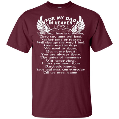 BigProStore For My Dad In Heaven Father's Day Gift Idea I Love You Daddy T-Shirt G200 Gildan Ultra Cotton T-Shirt / Maroon / S T-shirt