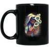 BigProStore Pretty Black Girl Mug African American Coffee Cup For Melanin Pride BM11OZ 11 oz. Black Mug / Black / One Size Coffee Mug