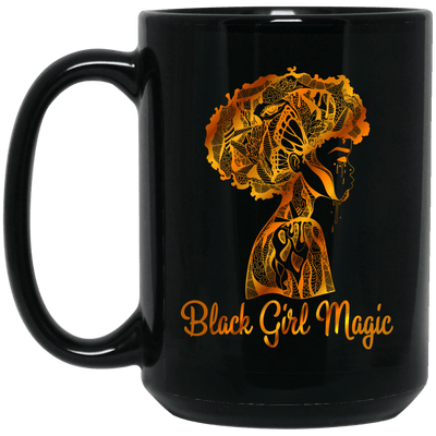 BigProStore Black Girl Magic Coffee Mug African Melanin Women Pro Girl Cup Design BM15OZ 15 oz. Black Mug / Black / One Size Coffee Mug