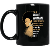 I'm June Woman Brithday Mug For African Coffee Cup Pro Black Girl Rock