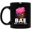 BigProStore Bae Best Auntie Ever Coffee Mug African American Cup For Black Women BM11OZ 11 oz. Black Mug / Black / One Size Coffee Mug