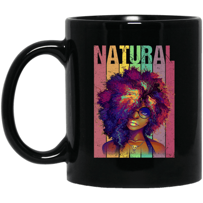 BigProStore Naturual Hair Mug African American Coffee Cup For Melanin Afro Girl BM11OZ 11 oz. Black Mug / Black / One Size Coffee Mug