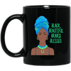 BigProStore Black Beautiful Brave And Blessed Mug African American Women Men Cup BM11OZ 11 oz. Black Mug / Black / One Size Coffee Mug