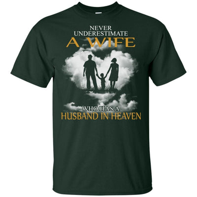 BigProStore My Husband Is In Heaven T-Shirt I Love You Special Father's Day Gift G200 Gildan Ultra Cotton T-Shirt / Forest / S T-shirt