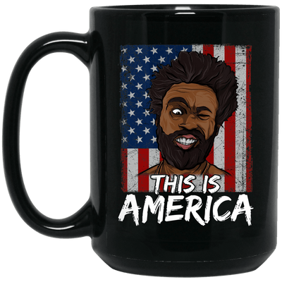 BigProStore This Is America African American Pride Coffee Mug Pro Black Women Men BM15OZ 15 oz. Black Mug / Black / One Size Coffee Mug