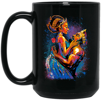 BigProStore African American Melanin Queen Coffee Mug For Pro Black People Pride BM15OZ 15 oz. Black Mug / Black / One Size Coffee Mug