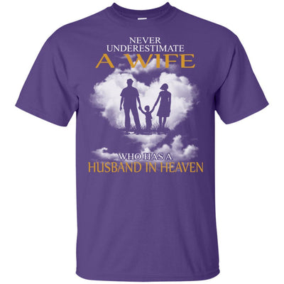 BigProStore My Husband Is In Heaven T-Shirt I Love You Special Father's Day Gift G200 Gildan Ultra Cotton T-Shirt / Purple / S T-shirt