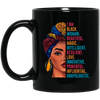 BigProStore I Am Black Woman Mug Beautiful Magic Intelligent Resilent Melanin Cup BM11OZ 11 oz. Black Mug / Black / One Size Coffee Mug