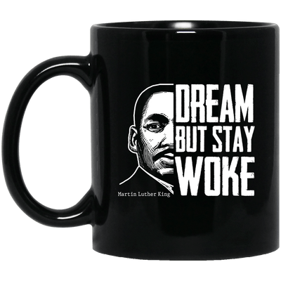 BigProStore Dream But Stay Woke Mug African American Coffee Cup For Pro Women Men BM11OZ 11 oz. Black Mug / Black / One Size Coffee Mug