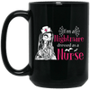 BigProStore Nurse Mug I'm A Nightmare Dressed As A Nurse Nursing Halloween Gifts BM15OZ 15 oz. Black Mug / Black / One Size Coffee Mug