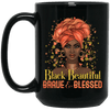 BigProStore Black Beautiful Brave And Blessed African American Melanin Coffee Mug BM15OZ 15 oz. Black Mug / Black / One Size Coffee Mug