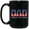 BigProStore Firefighter Mug Dad The Firefighter The Myth The Legend Firemen Gifts BM15OZ 15 oz. Black Mug / Black / One Size Coffee Mug
