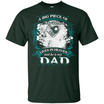 BigProStore Remembering Dad On His Death Anniversary Gift Missing Daddy T-Shirt G200 Gildan Ultra Cotton T-Shirt / Forest / S T-shirt