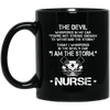 BigProStore Nurse Mug I Am The Storm Cup Cool Nurses Nursing Gifts BM11OZ 11 oz. Black Mug / Black / One Size Coffee Mug