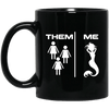 BigProStore Mermaid Coffee Mug Funny Gift Idea For Girls Women BM11OZ 11 oz. Black Mug / Black / One Size Coffee Mug