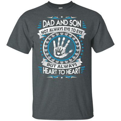 BigProStore Dad And Son Heart To Heart Forever T-Shirt Cool Father's Day Gift Idea G200 Gildan Ultra Cotton T-Shirt / Dark Heather / S T-shirt