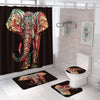 BigProStore Elephant Shower Curtains African Style Elephant Bathroom Sets Afrocentric Themed Decor BPS3291 Standard (180x180cm | 72x72in) Bathroom Sets