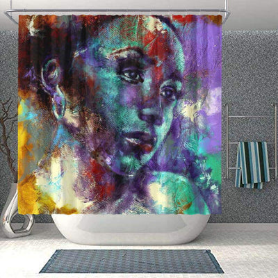 BigProStore Fancy African American Art Shower Curtains Black Girl Bathroom Decor Idea BPS0258 Small (165x180cm | 65x72in) Shower Curtain
