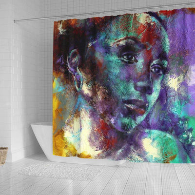 BigProStore Fancy African American Art Shower Curtains Black Girl Bathroom Decor Idea BPS0258 Shower Curtain