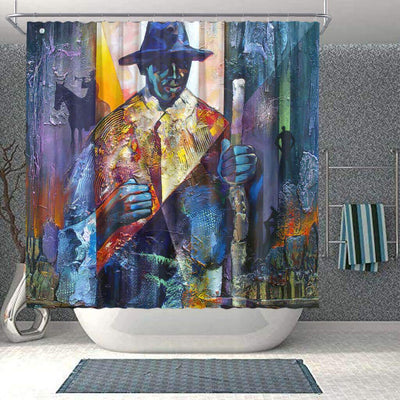 BigProStore Fancy African American Shower Curtains African Man Bathroom Designs BPS0239 Small (165x180cm | 65x72in) Shower Curtain