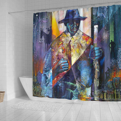BigProStore Fancy African American Shower Curtains African Man Bathroom Designs BPS0239 Shower Curtain