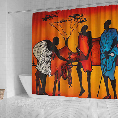 BigProStore Fancy African American Shower Curtains Black Girl Bathroom Decor Accessories BPS0019 Shower Curtain