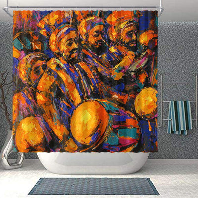 BigProStore Fancy African Inspired Shower Curtains Melanin Afro Men Bathroom Designs BPS0292 Small (165x180cm | 65x72in) Shower Curtain