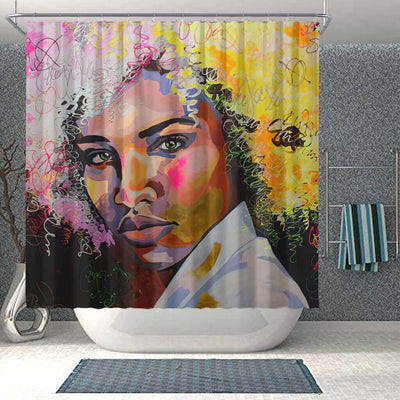 BigProStore Fancy African Print Shower Curtains African Girl Bathroom Designs BPS0029 Small (165x180cm | 65x72in) Shower Curtain