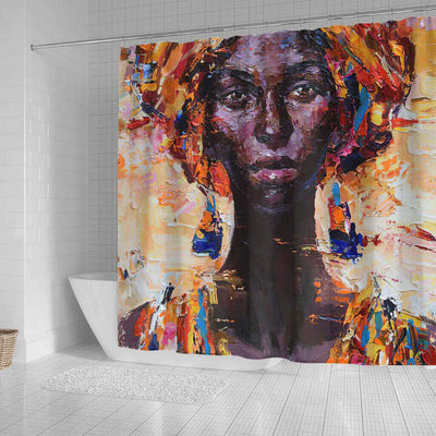 BigProStore Fancy African Print Shower Curtains African Woman Bathroom Designs BPS0049 Shower Curtain