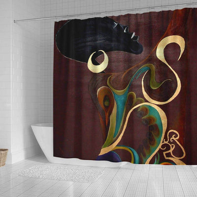 BigProStore Fancy African Print Shower Curtains Black Girl Bathroom Decor Accessories BPS0223 Shower Curtain