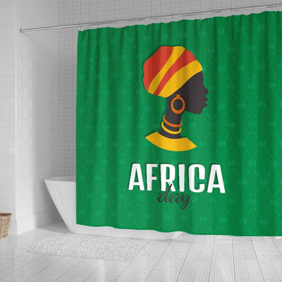 BigProStore Fancy African Print Shower Curtains Black Girl Bathroom Decor BPS0299 Shower Curtain