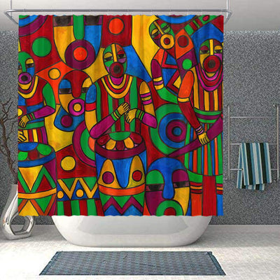 BigProStore Fancy African Print Shower Curtains Melanin Afro Girl Bathroom Decor Accessories BPS0274 Small (165x180cm | 65x72in) Shower Curtain