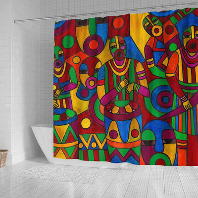 BigProStore Fancy African Print Shower Curtains Melanin Afro Girl Bathroom Decor Accessories BPS0274 Shower Curtain