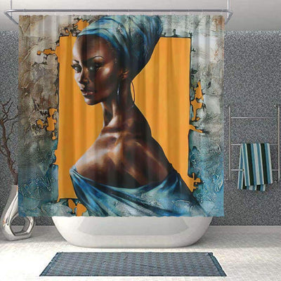 BigProStore Fancy African Themed Shower Curtains African Girl Bathroom Decor Idea BPS0140 Small (165x180cm | 65x72in) Shower Curtain