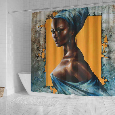 BigProStore Fancy African Themed Shower Curtains African Girl Bathroom Decor Idea BPS0140 Shower Curtain