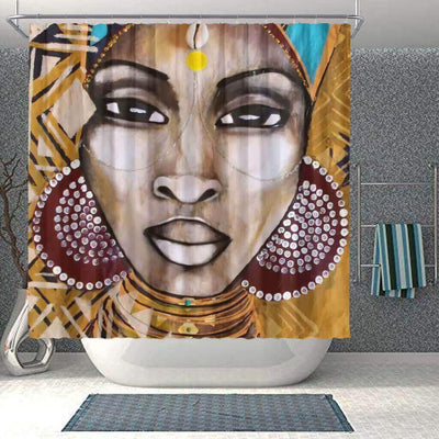 BigProStore Fancy Afro American Shower Curtains Afro Woman Bathroom Decor Idea BPS0286 Small (165x180cm | 65x72in) Shower Curtain