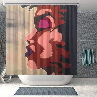 BigProStore Fancy Afro American Shower Curtains Black Queen Bathroom Decor BPS0174 Small (165x180cm | 65x72in) Shower Curtain