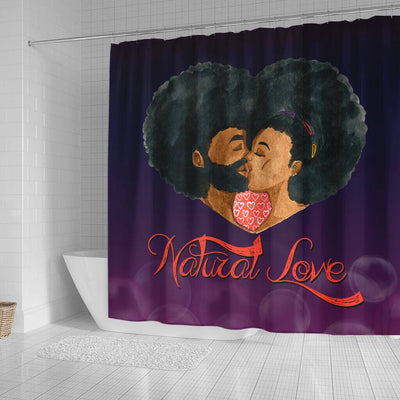 BigProStore Fancy Afro Man Woman Natural Love African American Themed Shower Curtains African Bathroom Accessories BPS042 Small (165x180cm | 65x72in) Shower Curtain
