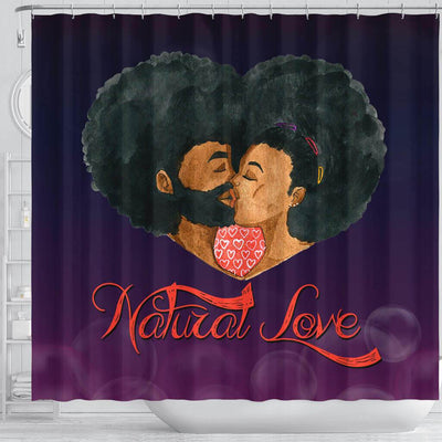 BigProStore Fancy Afro Man Woman Natural Love African American Themed Shower Curtains African Bathroom Accessories BPS042 Shower Curtain