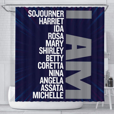 BigProStore Fancy I Am Sojourner Harriet Ida Rosa Mary Shirley Afro American Shower Curtains Afrocentric Style Designs BPS134 Small (165x180cm | 65x72in) Shower Curtain