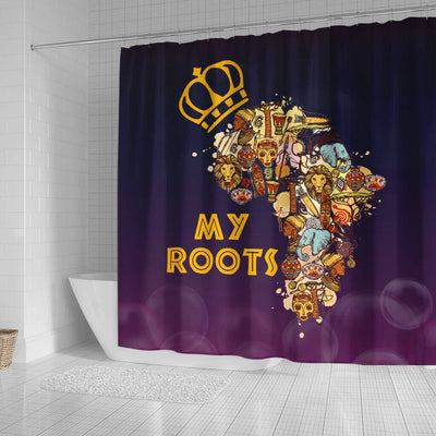 BigProStore Fancy My African Roots Afrocentric Shower Curtains African Bathroom Accessories BPS171 Small (165x180cm | 65x72in) Shower Curtain