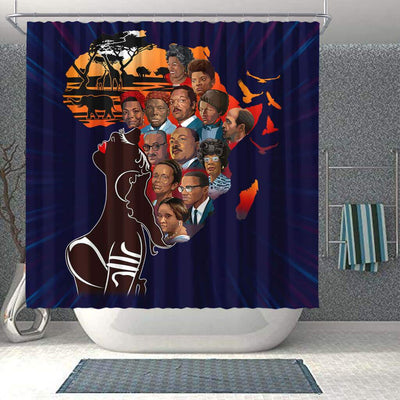 BigProStore Fancy My Roots Famous Pro Black Art Black History Shower Curtains Afrocentric Bathroom Decor BPS175 Shower Curtain
