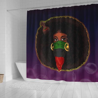 BigProStore Fancy Natural Hair Melanin Woman Black African American Shower Curtains Afrocentric Bathroom Accessories BPS182 Small (165x180cm | 65x72in) Shower Curtain
