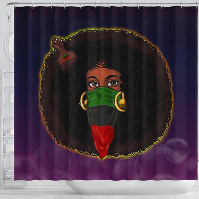BigProStore Fancy Natural Hair Melanin Woman Black African American Shower Curtains Afrocentric Bathroom Accessories BPS182 Shower Curtain