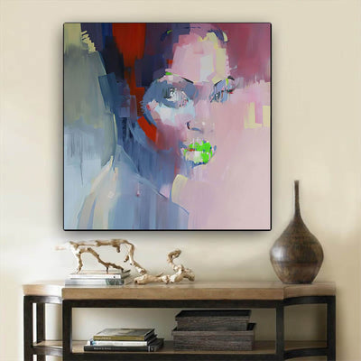 "BigProStore Framed Black Art Pretty African American Female African American Framed Wall Art Afrocentric Decorating Ideas BPS61270 24"" x 24"" x 0.75"" Square Canvas"