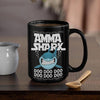 BigProStore Funny Amma Shark Doo Doo Doo Coffee Mug Womens Custom Father's Day Mother's Day Gift Idea BPS875 Black / 15oz Coffee Mug